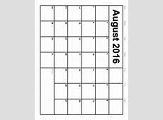 8 X 11 Calendar Printable Free Calendar Template