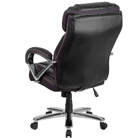 hercules series 500 lb capacity big black leather executive swivel office chair with