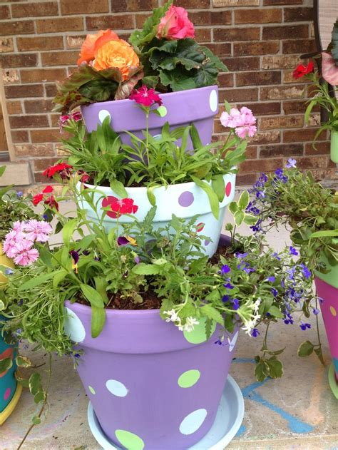 25 best ideas about stacked flower pots on