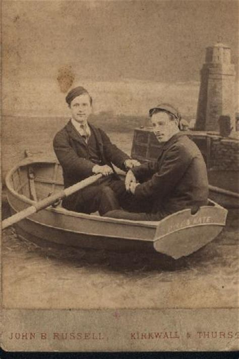Two Men In A Boat by Orkney Image Library 2 Men In A Boat