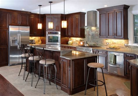 Brown Kitchen Cabinets Modification For A Stunning Kitchen Contemporary Small Living Room Design Ideas Chairs For India Accessorize Your Decorate Narrow Rectangular Better Homes And Gardens Rooms Partition Country Chic Furniture Interior 2016