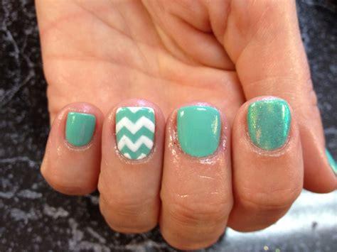 Nail Shellac Gelish Gel Nails Nail Art Cute Pastel Tiffany