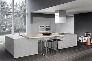 Küche Beton Holz : omicron armony k che integrierte k cheninsel holz beton k che pinterest k cheninsel ~ Markanthonyermac.com Haus und Dekorationen