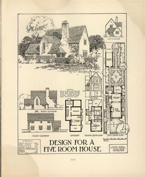1927 goodrich revival cottage william a chicago tribune book of homes 1927 vintage house plans