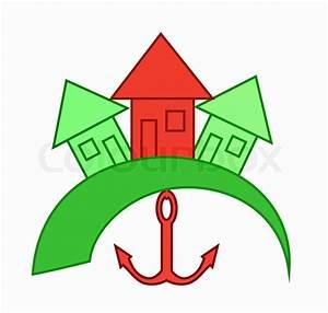 Icon Haus Preise : icon von dem roten haus mit einem anker in der n he grauen h usern vektorgrafik colourbox ~ Markanthonyermac.com Haus und Dekorationen