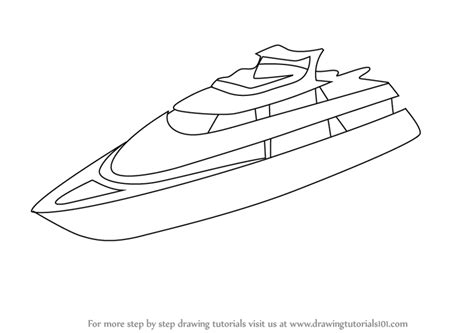 How To Draw A Old Boat by Learn How To Draw A Yacht Boats And Ships Step By Step