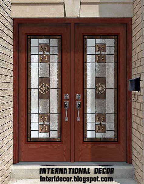american door and glass american wooden doors with stained glass designs