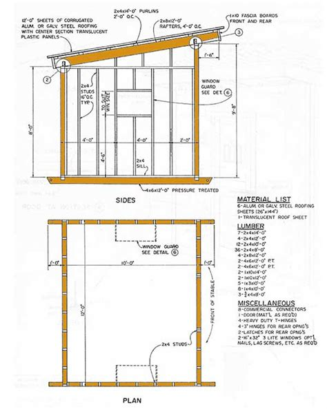10 215 12 lean to storage shed plans how to construct a slant roof shed