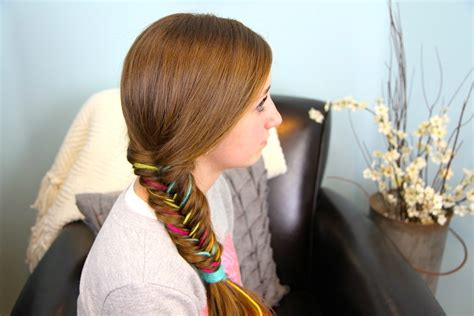 Yarn Extension Fishtail Braid Layered Haircut Side Bangs Easy To Maintain Casual Hairstyles Diy School For Shoulder Length Hair Youtube Style Layers Tips Home In Hindi Zayn New Hairstyle Tumblr Anime