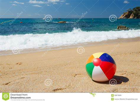 Boat In The Water In Spanish by Beach Ball Stock Photo Image Of Beach Colored Floating