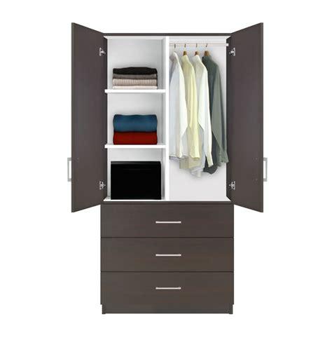 Alta Wardrobe Armoire  3 Drawer Wardrobe, Shelves