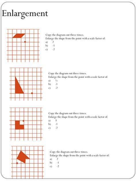 Enlargement Worksheet (negative Scale Factors) By Holyheadschool  Teaching Resources Tes