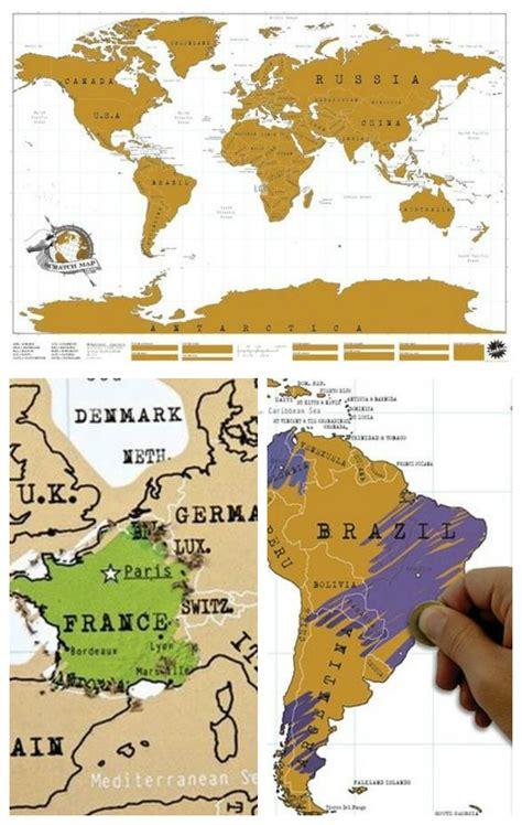 luckies scratch map la carte du monde 224 gratter