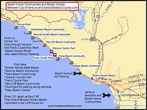 Life West Coast: Ventura County Public Beaches Map