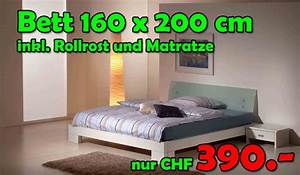 Bett Inkl Matratze Und Lattenrost : bett komplett 160x200cm inkl 2 nachttische lattenrost und matratze nur fr 390 ~ Markanthonyermac.com Haus und Dekorationen