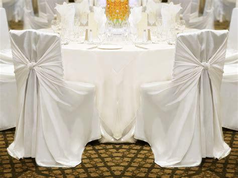 100 white satin universal self tie chair covers wedding ebay