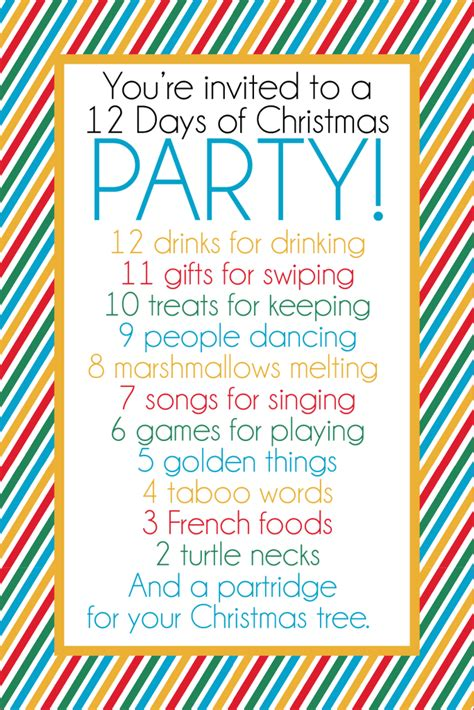 12 Days Of Christmas Party Ideas & Gift Exchange Game  Play Party Plan
