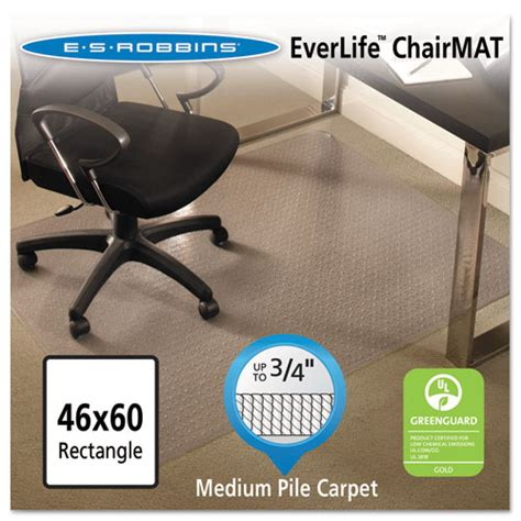 es robbins 122371 everlife all day support chair mats for