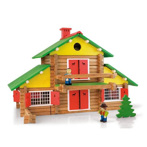 jeu de construction mon chalet en bois 240 pi 232 ces jeujura jeux jouets loisirs enfant