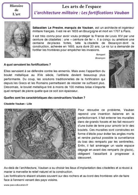 architecture militaire fortifications vauban cm1 cm2 arts de l espace histoire des