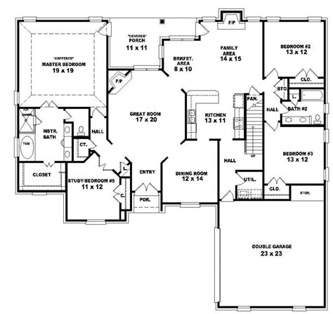 style house plan 3 beds 2 baths 2630 sq ft plan 653964 two story 4 bedroom 3 bath country style