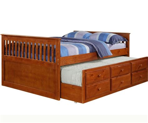 mission size captains trundle bed espresso bedroom furniture beds donco trading