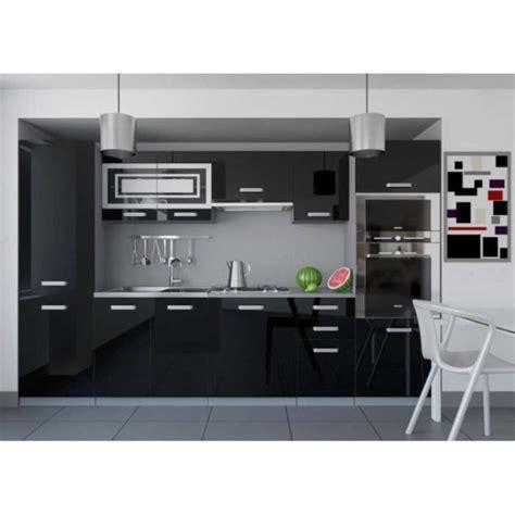 justhome infinity cuisine 233 quip 233 e compl 232 te 300 cm couleur noir blanc laqu 233 haute brillance