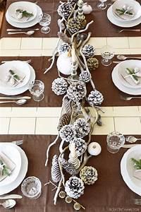Tischdeko Ideen Weihnachten : winterlich festliche tischdeko mit naturmaterialien eclectic hamilton ~ Markanthonyermac.com Haus und Dekorationen