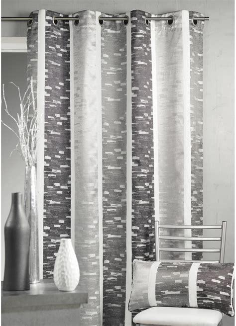 rideau en jacquard design 224 rayures verticales gris