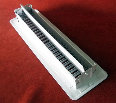 register floor wall vent cover grate heat white 2 x 12 metal classic free ship ebay