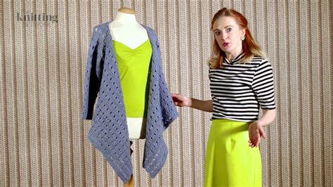 Ladies Cardigan With Draped Front Knitting Pattern (the Knitting Network Wld074)
