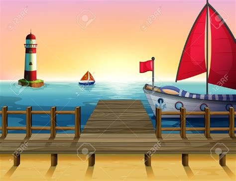 Cartoon Boat Dock by Sea Clipart Dock Pencil And In Color Sea Clipart Dock