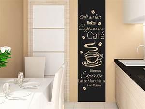 Küche Farbe Wand : wandtattoo kaffee banner kaffeesorten wandtattoo de ~ Markanthonyermac.com Haus und Dekorationen