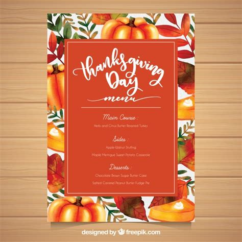 Thanksgivng Dinner Pages Template by Colorful Thanksgiving Menu Template Vector Free Download