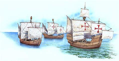 Barcos De Cristobal Colon La Niña La Pinta Yla Santa Maria la pinta la ni 241 a y la santa maria camino del nuevo mundo