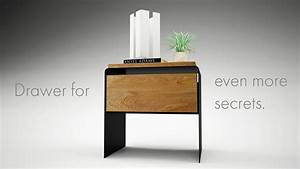 Nachttisch Weiß Metall : design nachttisch modern weiss schwarz holz metall mystery nachttisch pinterest nachttisch ~ Markanthonyermac.com Haus und Dekorationen