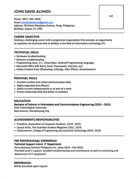 Resume Templates You Can Download  Jobstreet Philippines. Tutor Resume Sample. Cover Letter Job Resume. Resume For Analyst Job. Administrative Assistant Resume Example. Ats Friendly Resume Template. Resumè. My Perfect Resume Cost. Resume Summary Tips