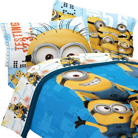 despicable me bedding set minions testing 123 bed traditional bedding by obedding