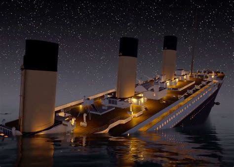 titanic sinks in real time is chillingly detailed