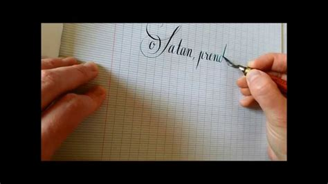 baudelaire en calligraphie anglaise