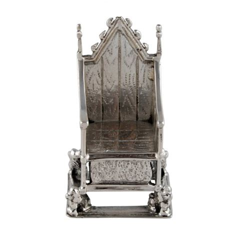 antique sterling silver chair silver king edward s chair
