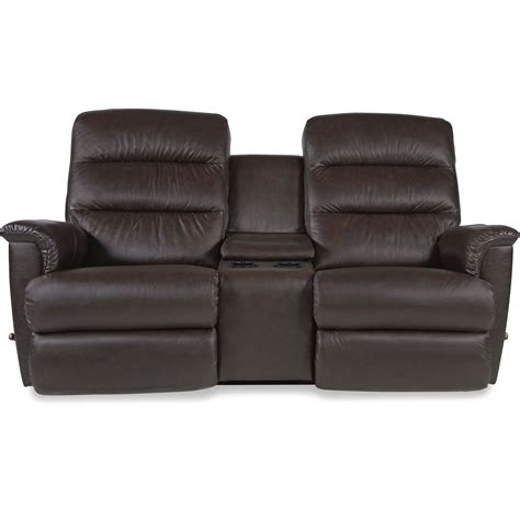 wall saver reclining loveseat with cupholder and storage console by la z boy wolf and gardiner