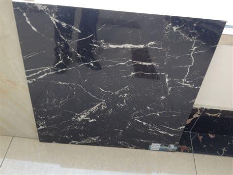 24x24 noir poli carreaux de porcelaine imitation marbre carreaux style carrelage