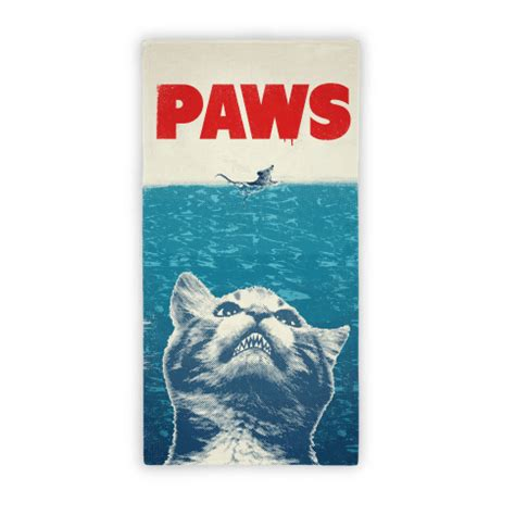 Boat Beach Towels by Paws Jaws Parody Beach Towel Beach Towels Lookhuman