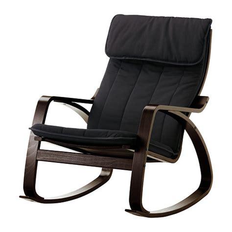 po 196 ng fauteuil 224 bascule alme noir brun noir ikea