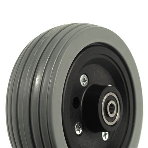 pride 6 quot gray flat free caster wheel assembly for jazzy