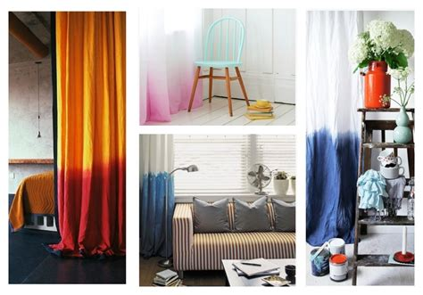 Diy Dip Dyed Ombre Window Panel Curtains Glazed Curtain Walls Microfiber Panels Blackout Curtains Child With A Valance Hanging Guide Blue Zig Zag Pinch Pleated And Drapes Make Cafe