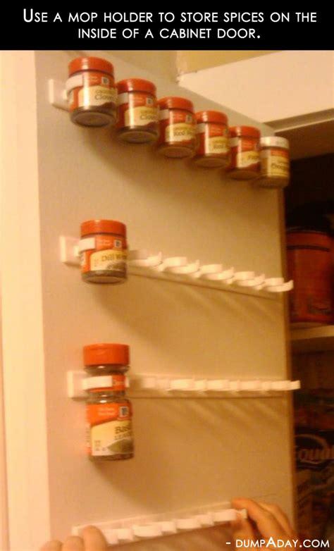 amazing easy diy home decor ideas mop holder spice rack dump a day
