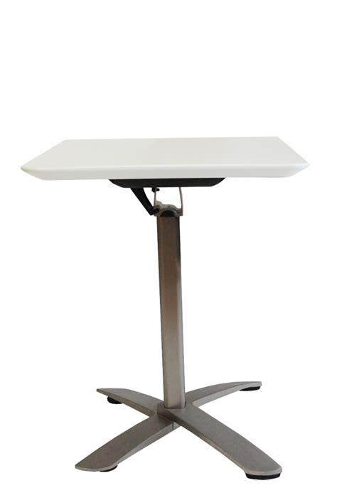 table bistro pliante carre blanc table de bar topkoo