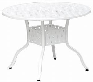 Tisch Rund Weiß : nexus weiss tisch 106 rund alu guss gartenm bel batavia gartenm bel onlineshop f r ~ Markanthonyermac.com Haus und Dekorationen